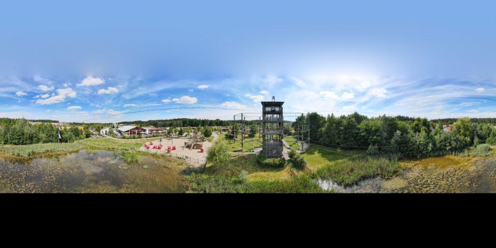 Drohnenschooting – neue Perspektive von unserem Hochseilgarten Günzburg