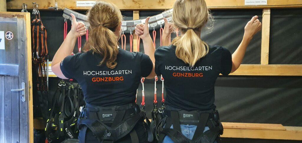 Unsere neuen Hochseilgarten Shirts sind da!